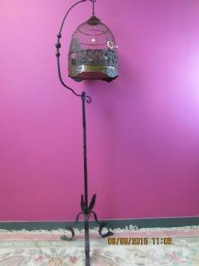 Vintage Victorian Brass Bird Cage