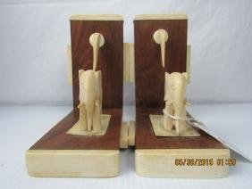 Asian Arts Chinese Wood Bookends