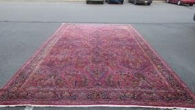 Middle Eastern Hand Stitched Wool Rug