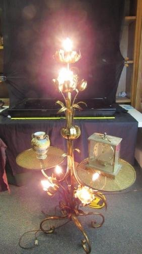 Lamp Stand Flower Design Two round table