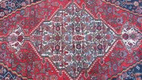 Antique Red Carpet Hand woven sheep Wool