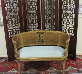 Victorian Upholstered Love Seat