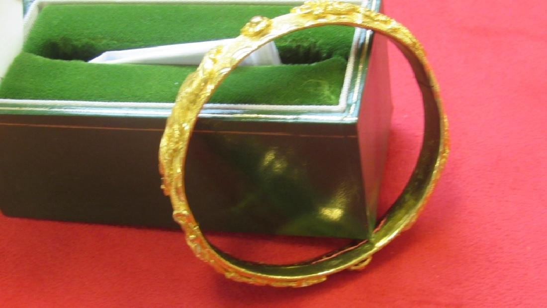 24K Gold Dragon and Phoenix Bracelet