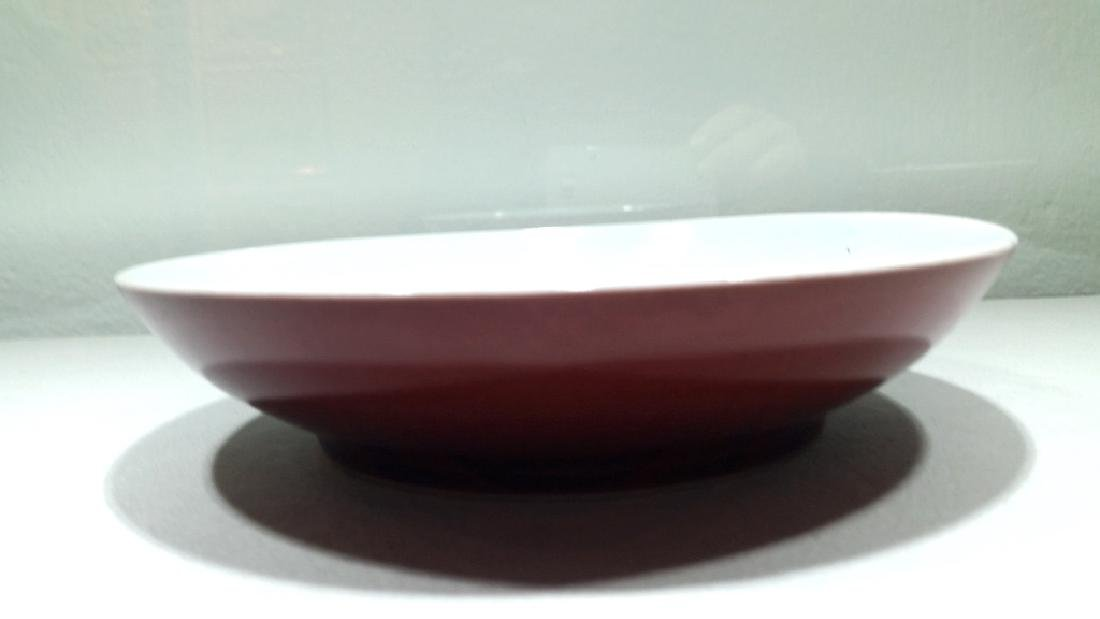 Chinese Copper Red Glazed Dish