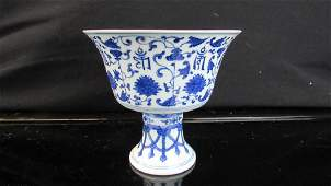 APorcelain White and Blue Food Bowl