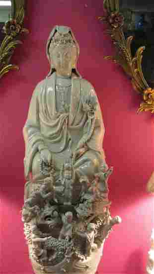 Old Chinese He Chaozong Style Guanyin