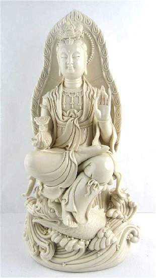 Old Chinese He Chaozong Trademar Guanyin
