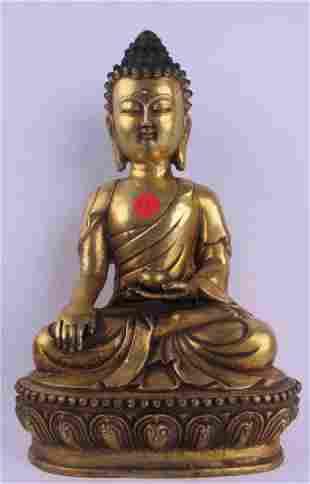 Bronze Buddha Statue Marked