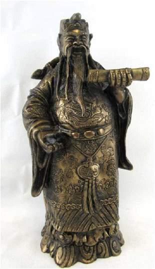 Old Bronze Fortune Statue