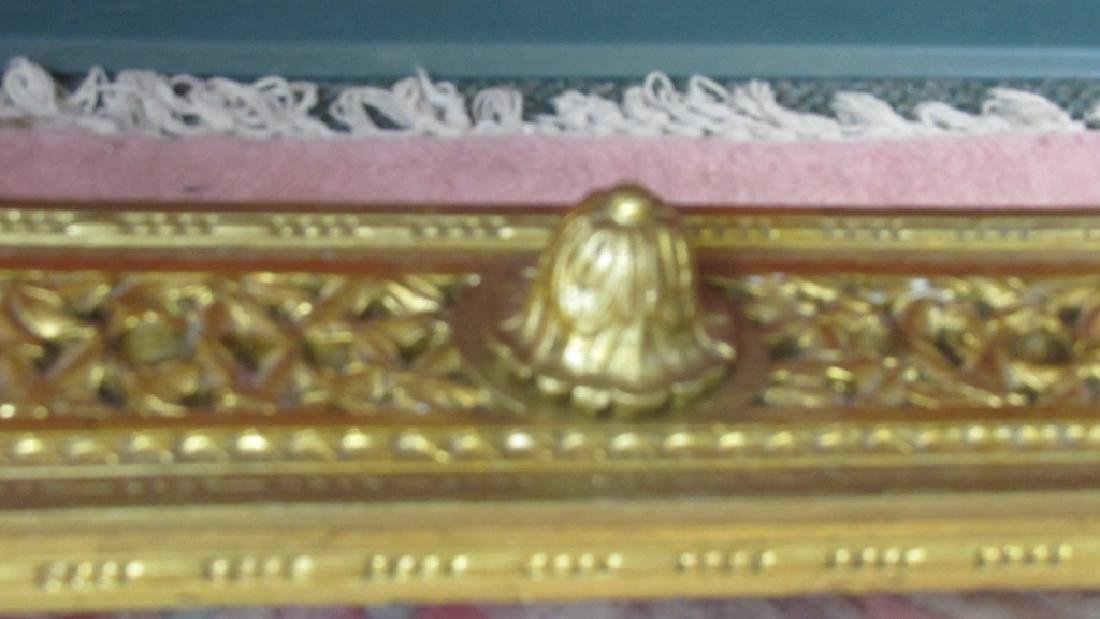 Great French Gilded Wood Table with Marble Inlay - 7