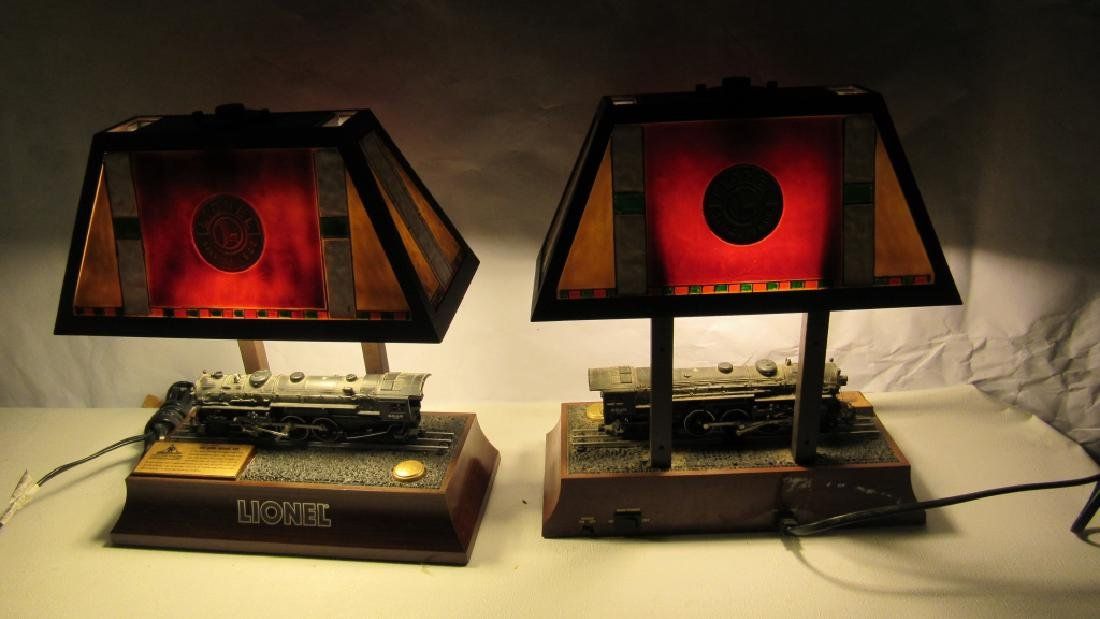 Pair of Train Theme Table Lamps