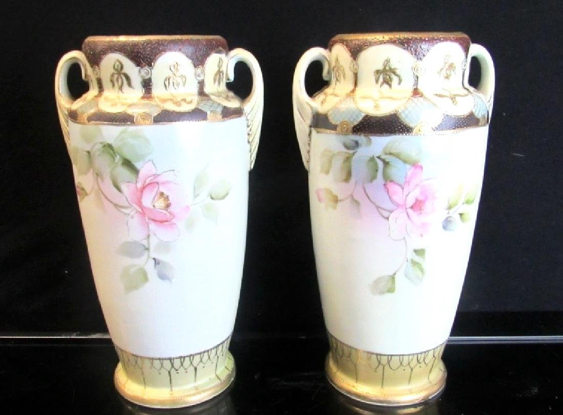 Hand painted nippon vases pair hand painted nippon vases reviewsmspy
