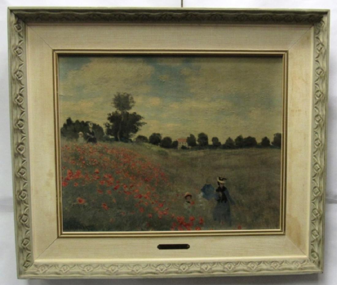 Original Oil Painting of a Flower Garden