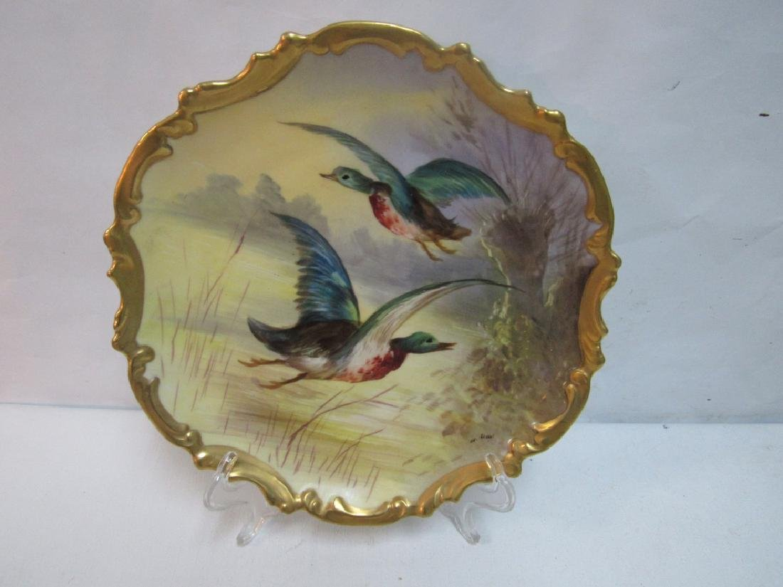 French Limoges Plate of Birds