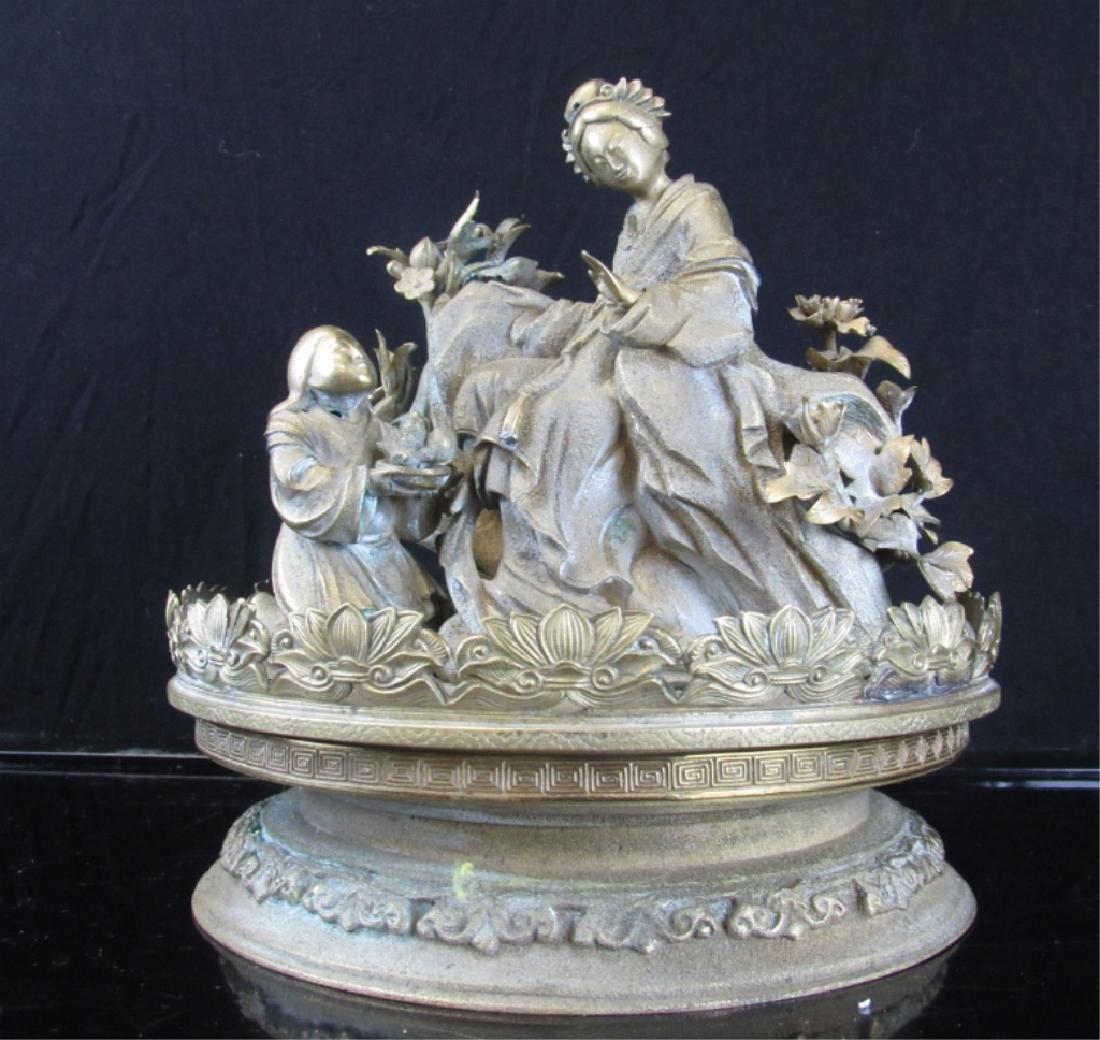 Silver Metal Sculpture
