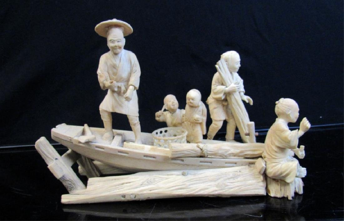 Qing Dynasty White-Wood Carving