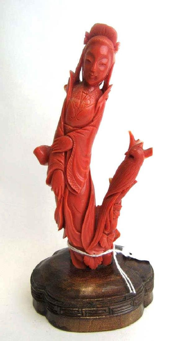 Chinese Red Coral Carving - 2