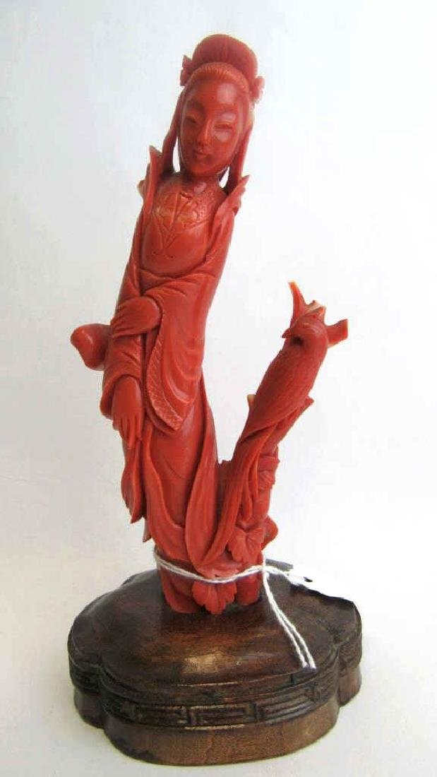 Chinese Red Coral Carving - 7