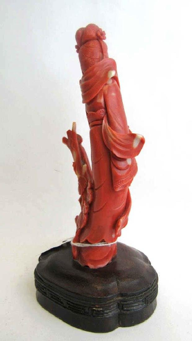 Chinese Red Coral Carving - 8