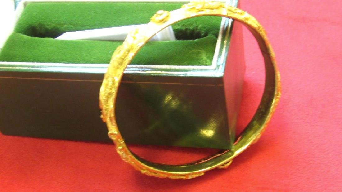 24K Gold Dragon Bracelet