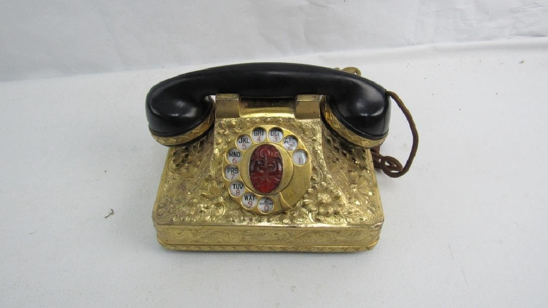 Vintage Rotary Dial Gold Phone