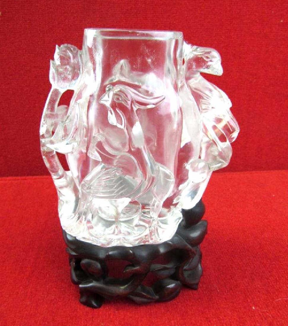 Chinese Carved Crystal Brush Holder