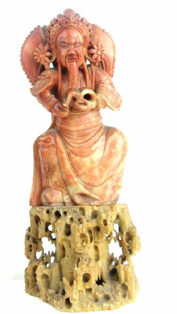 Soap Stone Kuan Guan Yun Chang