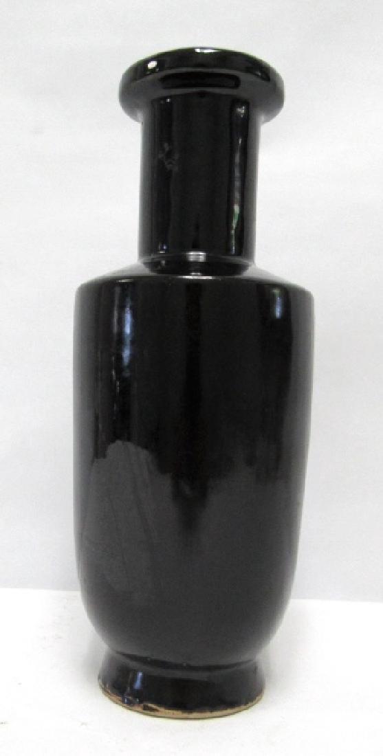 Qing Dynasty style Chinese Black Vase