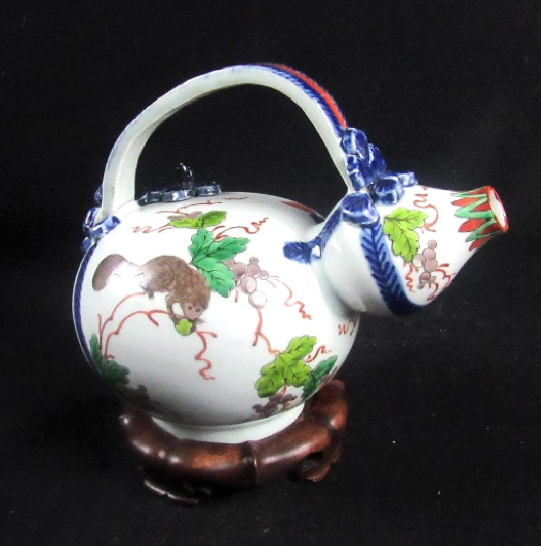Qing Dynasty Enameled Porcelain Teapot