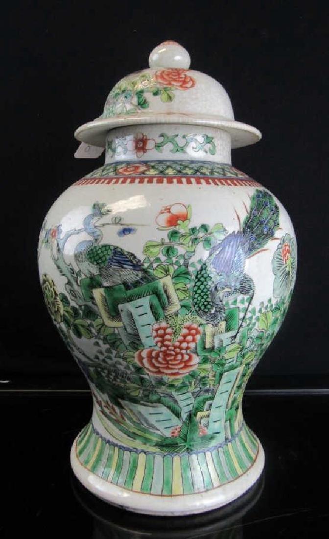 18th Century Qing Dynasty Lidded Ginger Jar