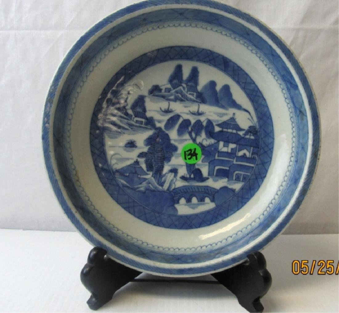 Old Blue and White Plate
