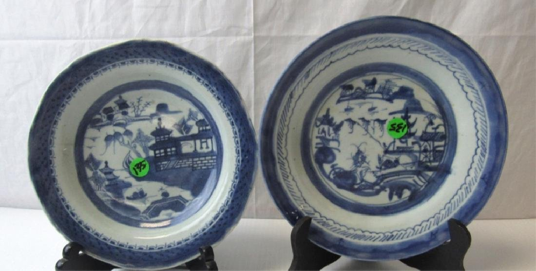 Pair of Old Blue and White Plates
