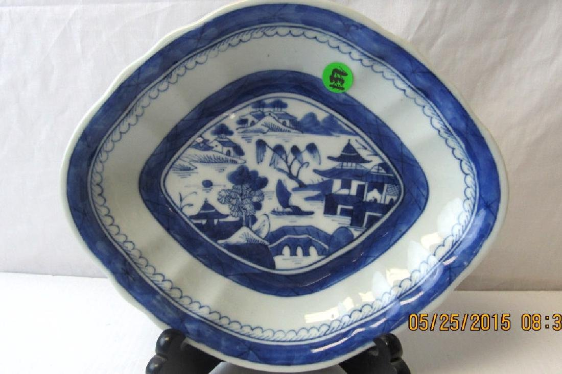 Chinese Blue and White Canton Plate