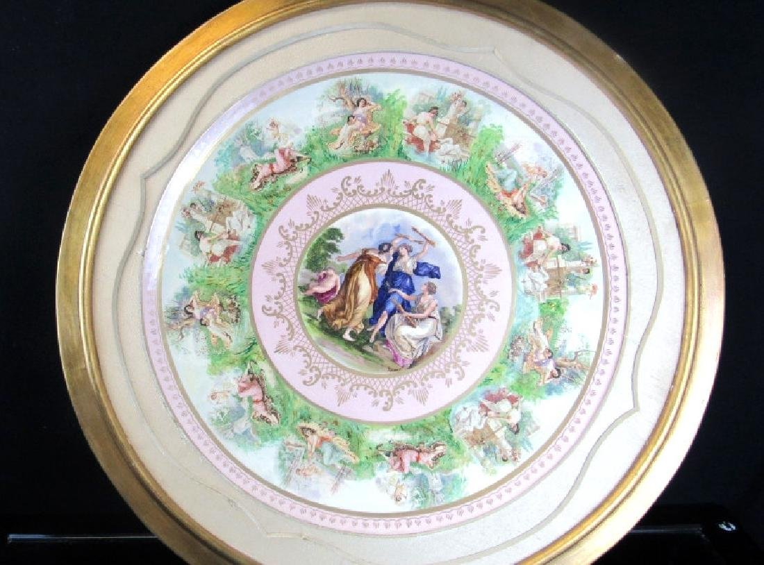 19th Century Very Large European Porcelain Plate