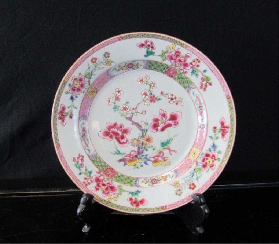 A TEN FAMILLE ROSE  PLATE