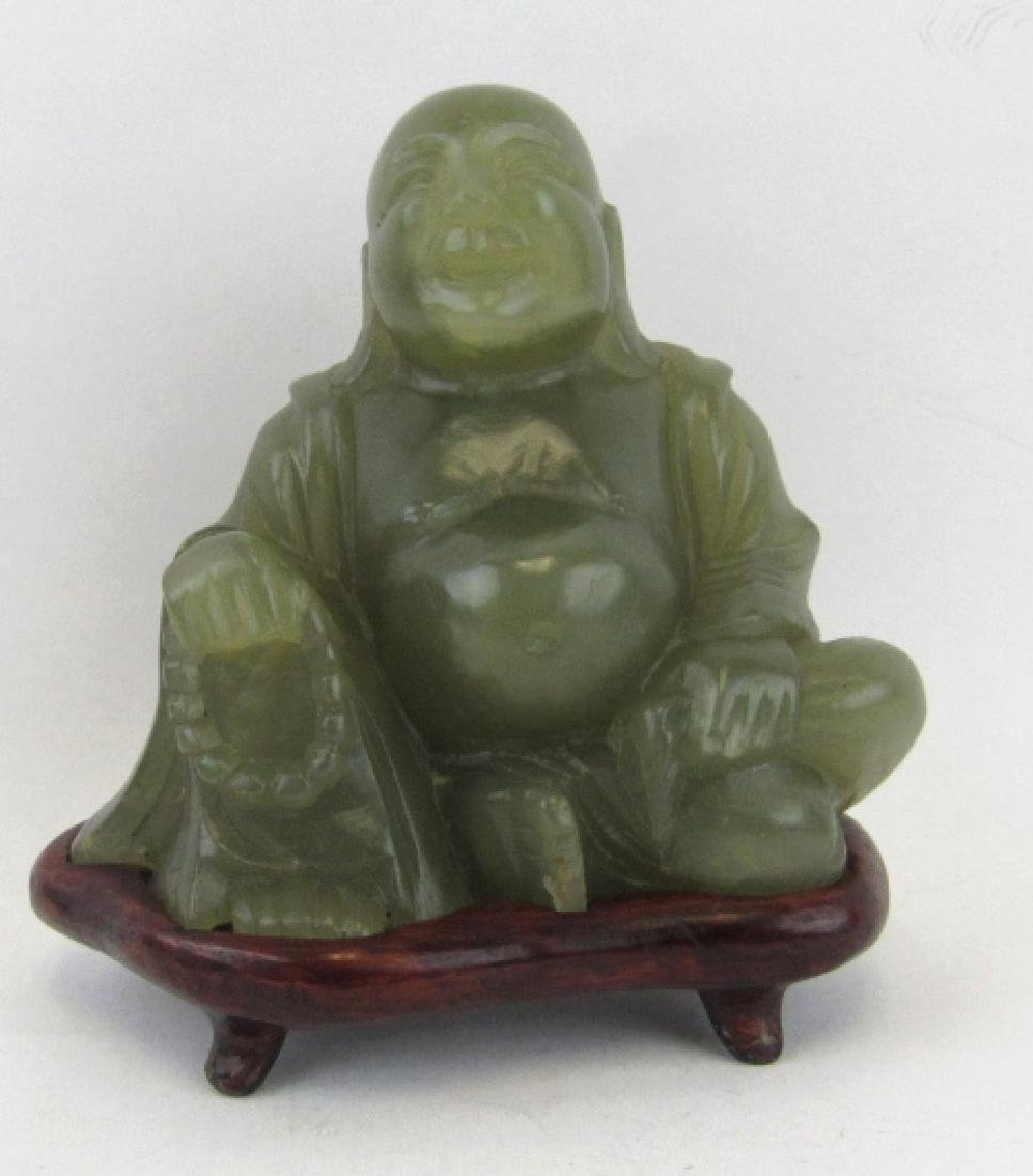 Green Jade Buddha Figurine