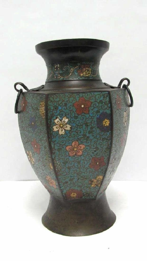 Chinese Floral Cloisonne Vase