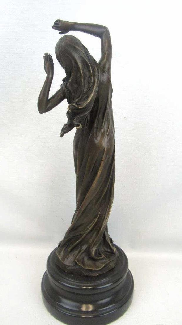 20th Century Bronze Statue of Lady