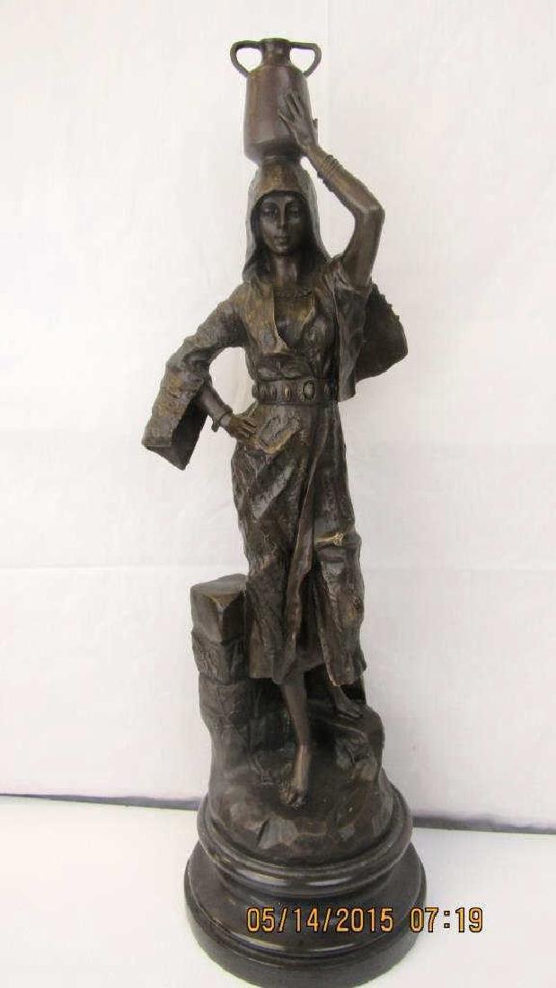 20th Century Bronze Lady Statue