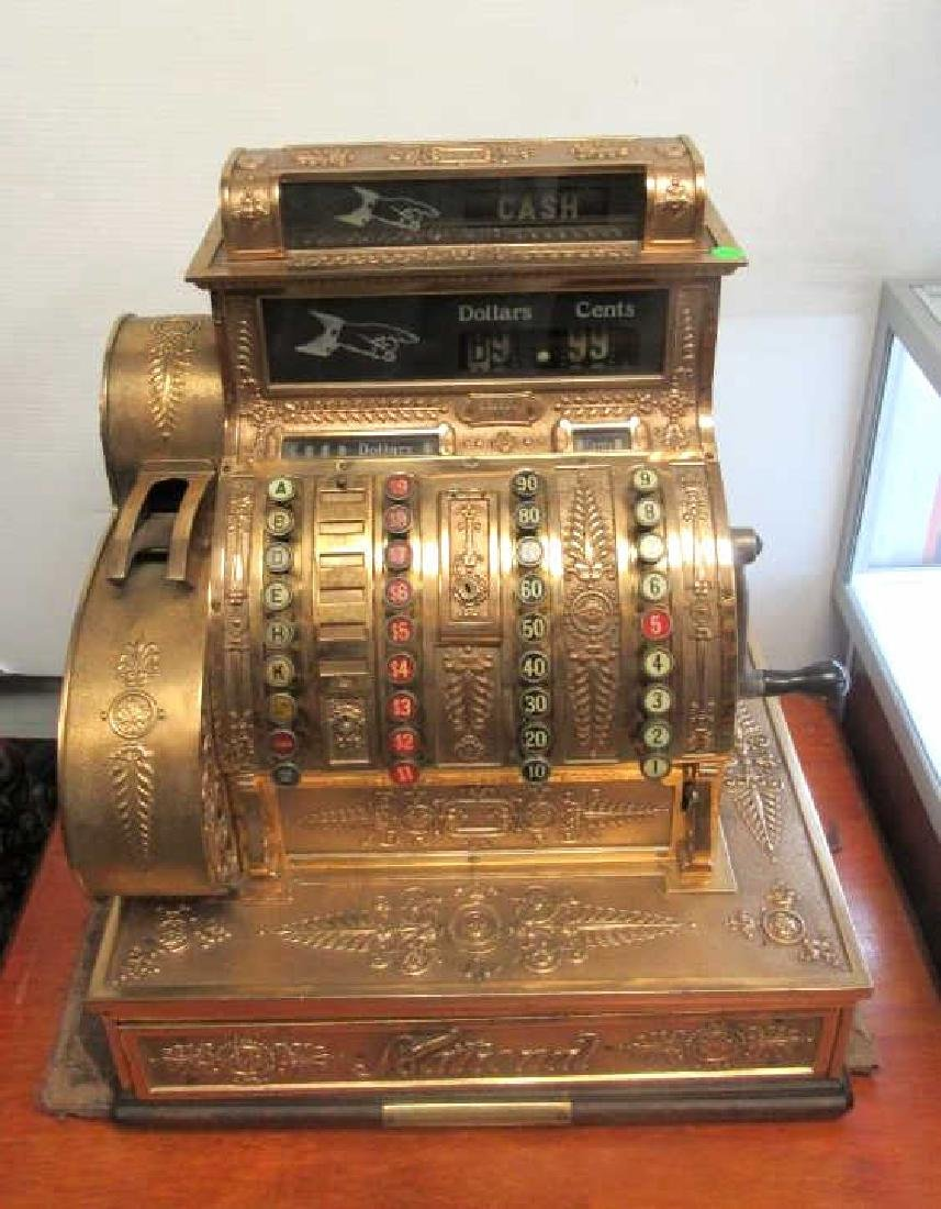 Gold Plate Cash Register