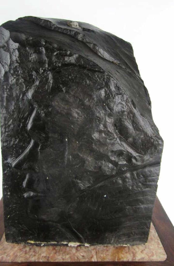 Carved Coal Sculpture