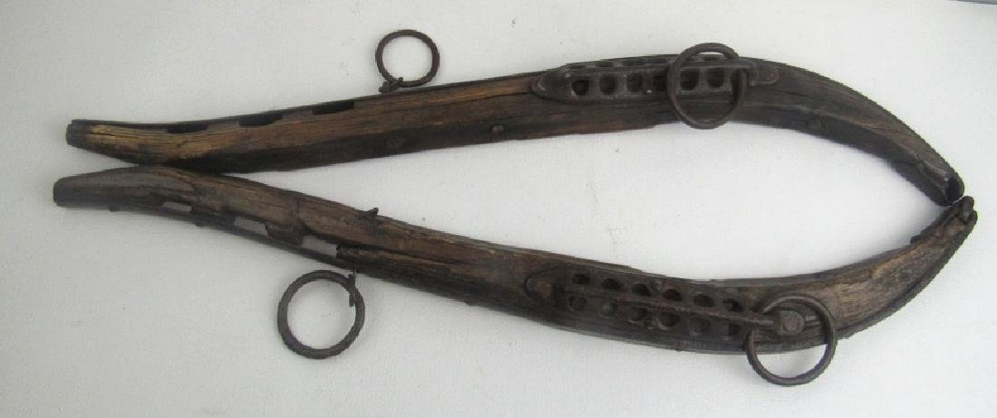 Pair of Wooden and Steel Gun for Wall Hanging