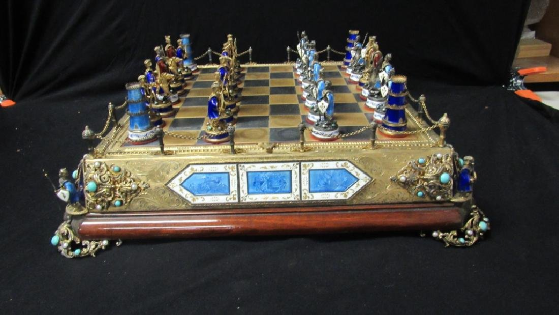 Chess Set Made with Silver and 18k Gold Fillings