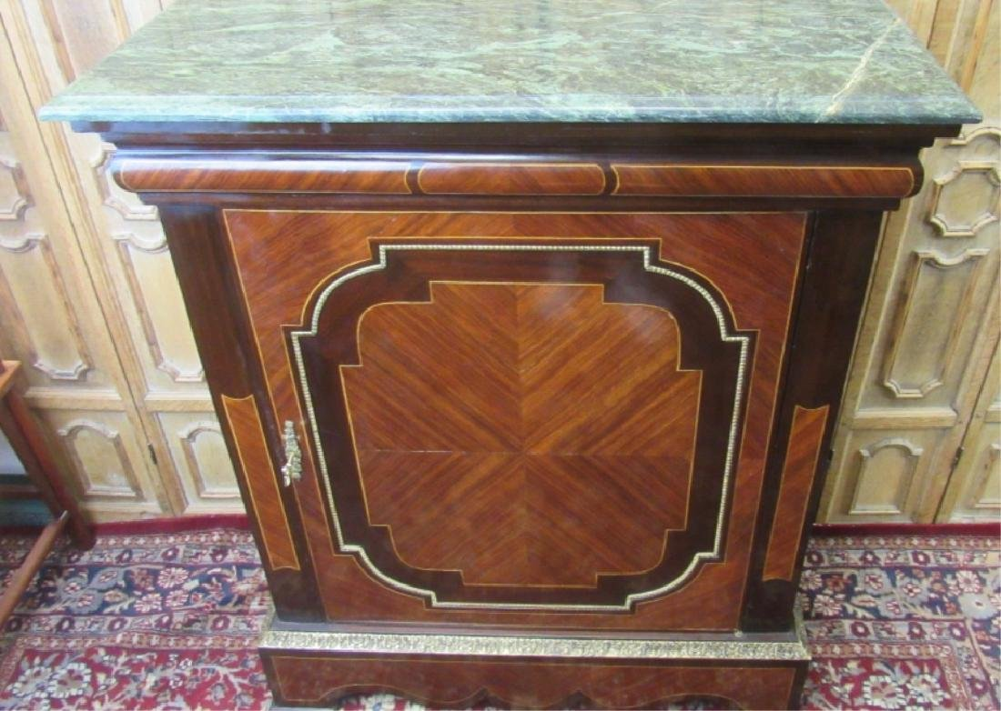 Gold Gilt Accented Walnut Cabinet