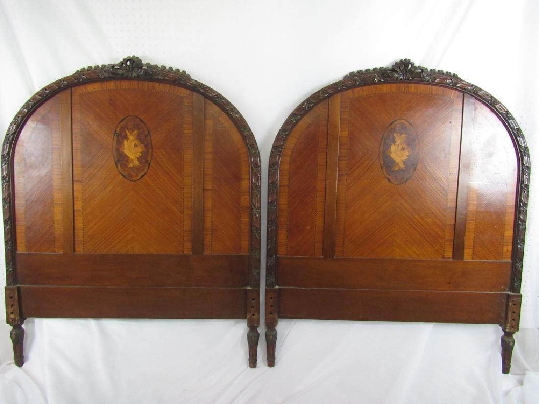 Pair of Twin Mahogany Headboards - 2