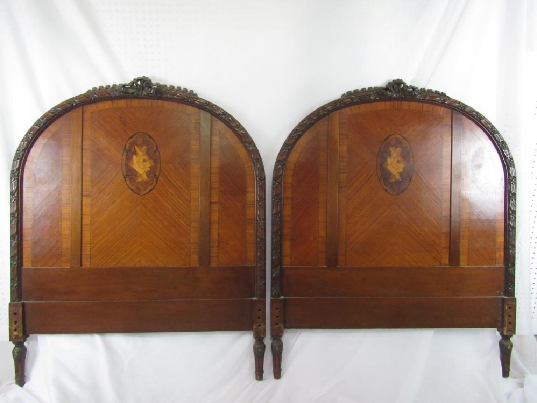 Pair of Twin Mahogany Headboards - 3