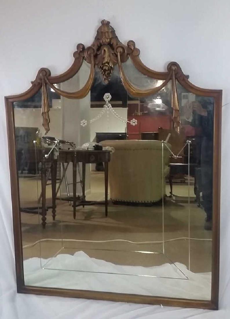 Mahogany Frame Hanging Mirror