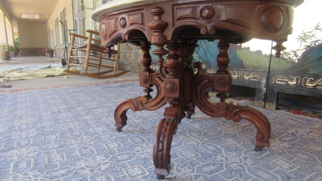 Victorian Marble Top Coffee Table - 5