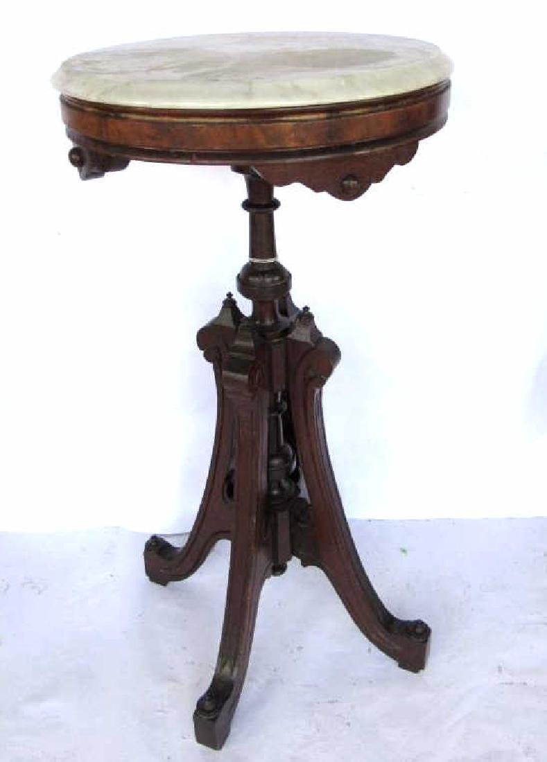 Victorian Wood & Marble Table