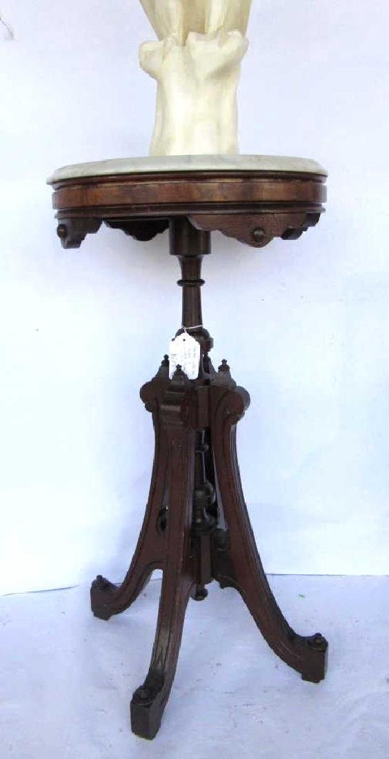 Victorian Wood & Marble Table - 2